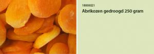 Abrikozen gedroogd 250 gram