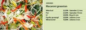 Macaroni groenten