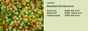 Rauwkost komkommer