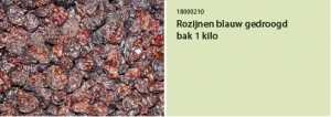 Rozijnen blauw gedroogd bak 1 kilo