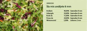 Sla mix andijvie 8mm