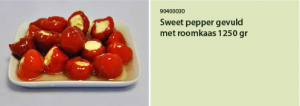 Sweet pepper geviuld met roomkaas 1250 gr