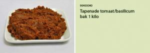 Tapenade tomaat basilicum bak 1 kilo